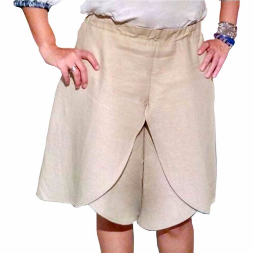 short culotte beige - passion for the sun