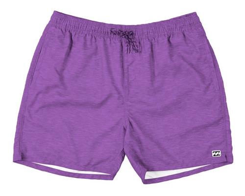 short de baño billabong layback full texture purple hombre