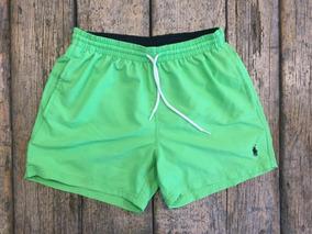 5aaff75fac73 Short De Baño Hombre Liso Green Ralph Lauren