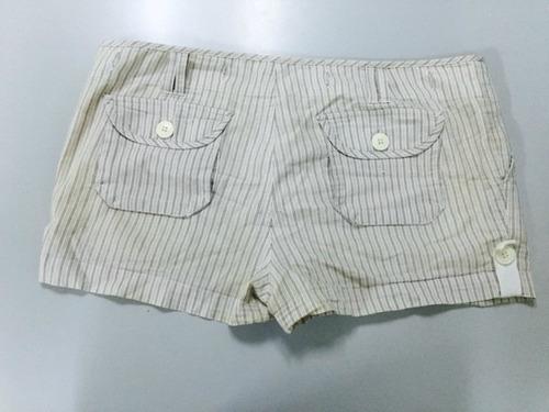 short de dama con rayas talla 13/14 usado tienda virtual