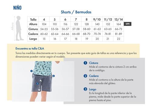 short de felpa con jareta de niños c&a 1049347