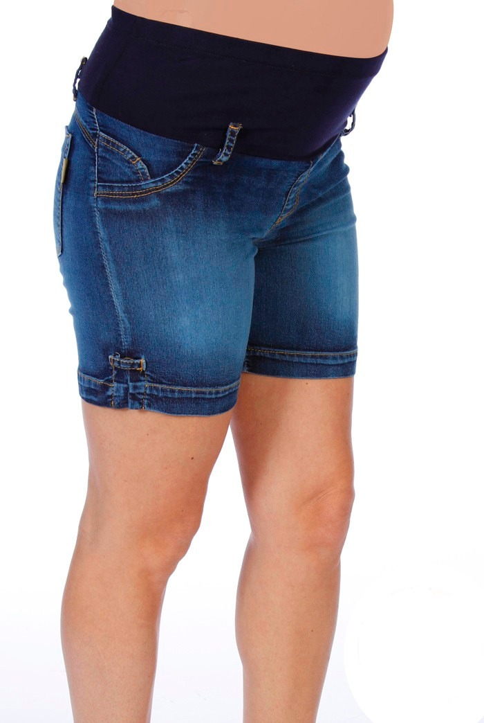 53844716f Short De Jean Para Embarazada Con Faja (ropa Futura Mamá) -   660