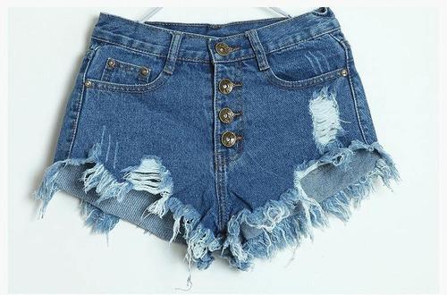short de jean rasgado para dama (por encargue)