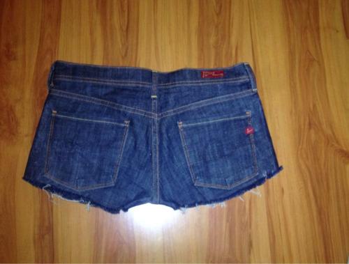 short de jeans mezclilla