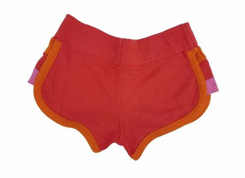 short de mujer 47 street, talle s, rojo con colores pastel.