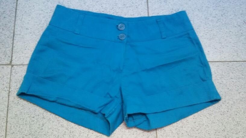 llega venta de tienda outlet lindos zapatos Short De Mujer En Tela Color Azul - Bs. 20.000,00