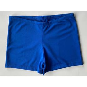 Short De Natación Meolans, Liso Azul, Resistente Al Cloro