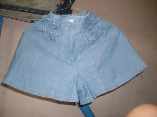 short de niña bermuda en tela jeans