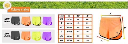 short de running crossfit unisex - gol de oro style