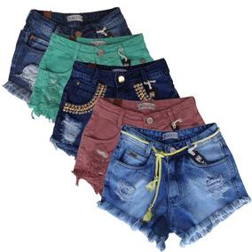 2b85ec218 Colã Short Shorts Jeans Feminino - Shorts no Mercado Livre Brasil
