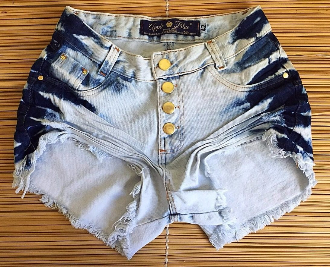 f0e456e71 short feminino jeans destroyed hot pants cintura alta anitta. Carregando  zoom.