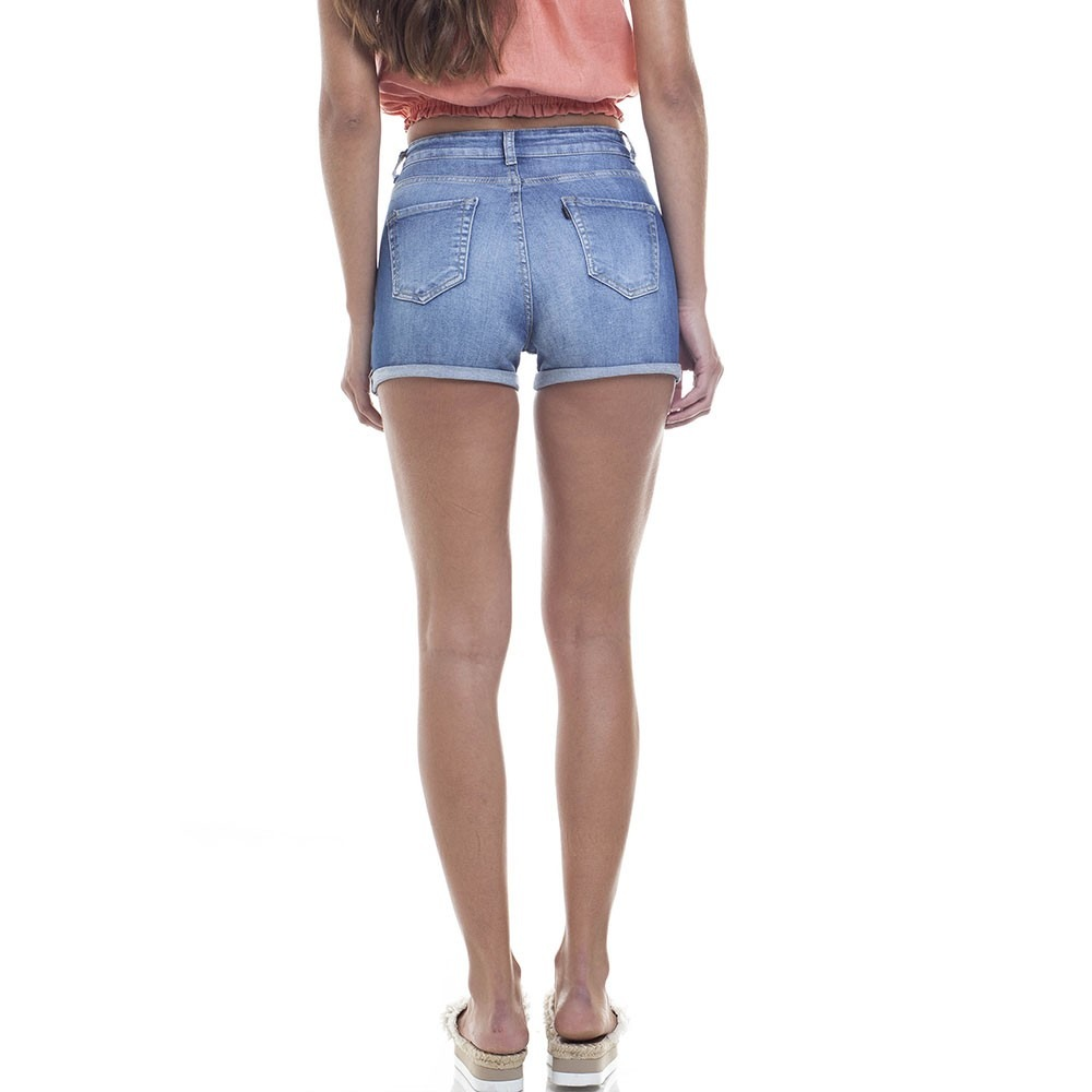 2d37352abc7ae Short Feminino Pin Up Barra Dobrada Denim Zero-dz6280 - R  159