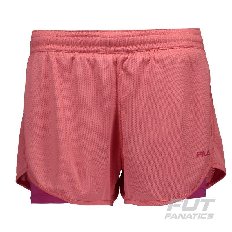ea03a9cc27 short fila double training feminino rosa. Carregando zoom.