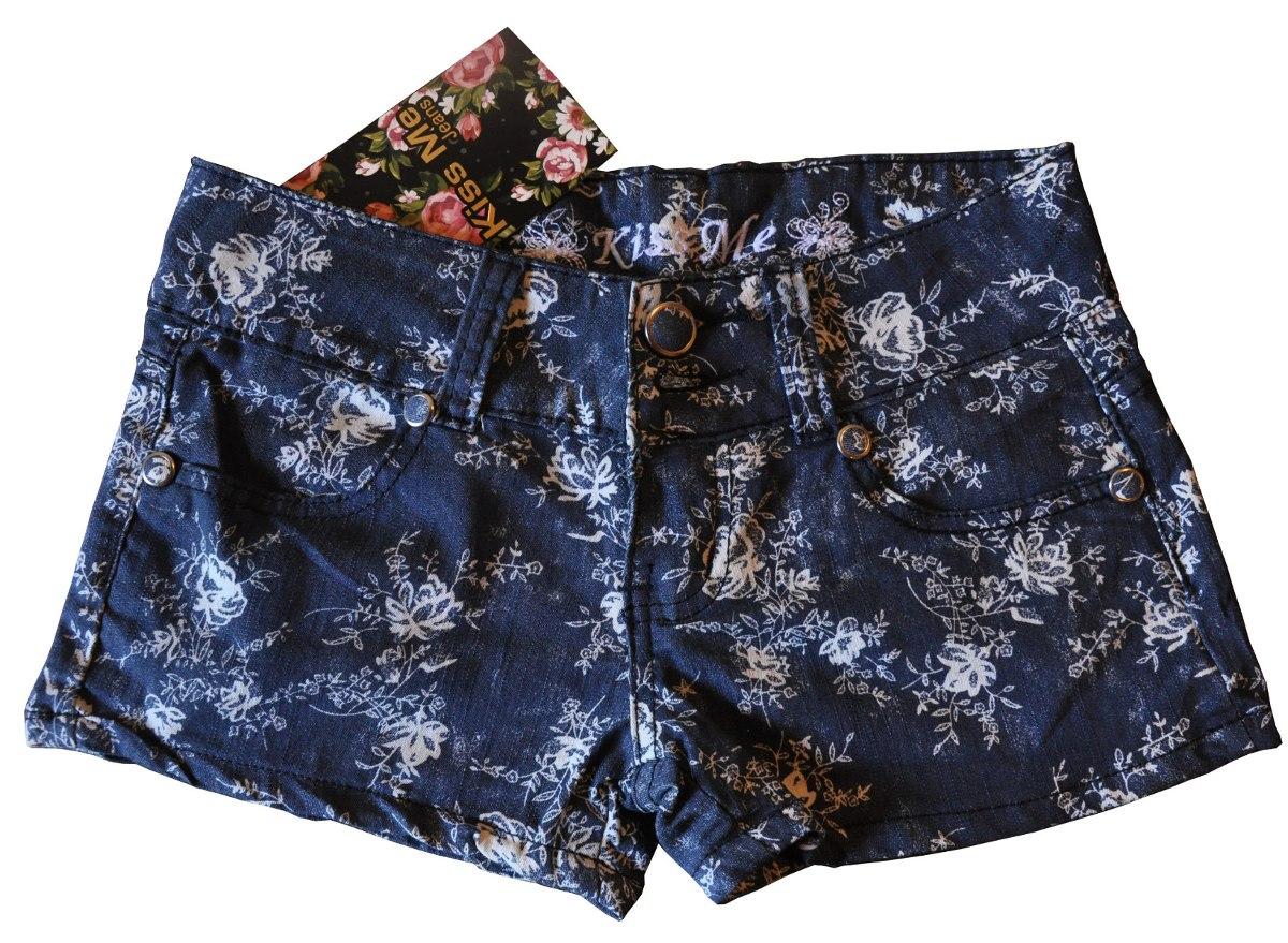 7e6de0eb22 Short Flores Blue Jean - Mujer - Marca Kiss Me - Talla 7 8 ...