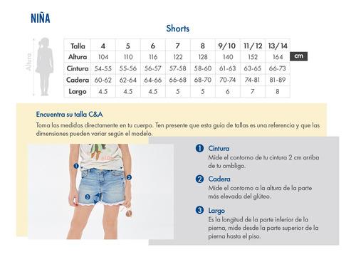 short fluido detalle moño de niñas c&a 1047935