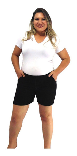 short gestante roupa gravida kit 3 unidades malha + brinde