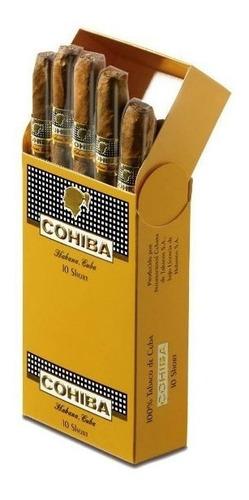 short habanos cohiba puritos fumar cigarros cubanos caja x10