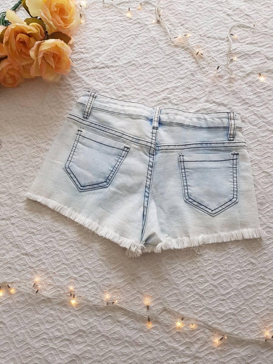 Short Jean, Bordado, Piedras, Guarda, Boho Hippie Chic - $ 998,00 en ...