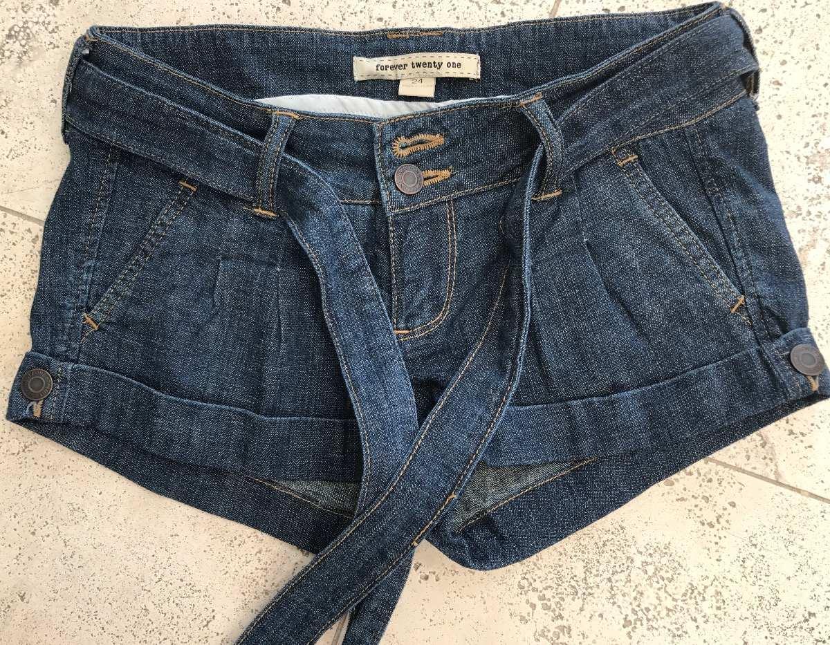 320095b423 short jean forever 21 rock mujer denim corto cinturón verano. Cargando zoom.
