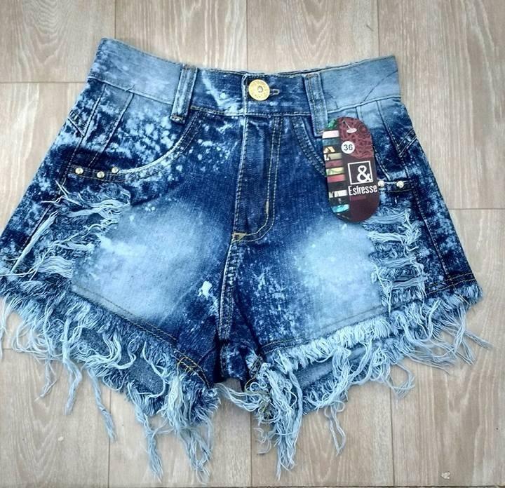 Short Jeans Cintura Alta, Hot Pants, Panicat, Blogueiras -5595