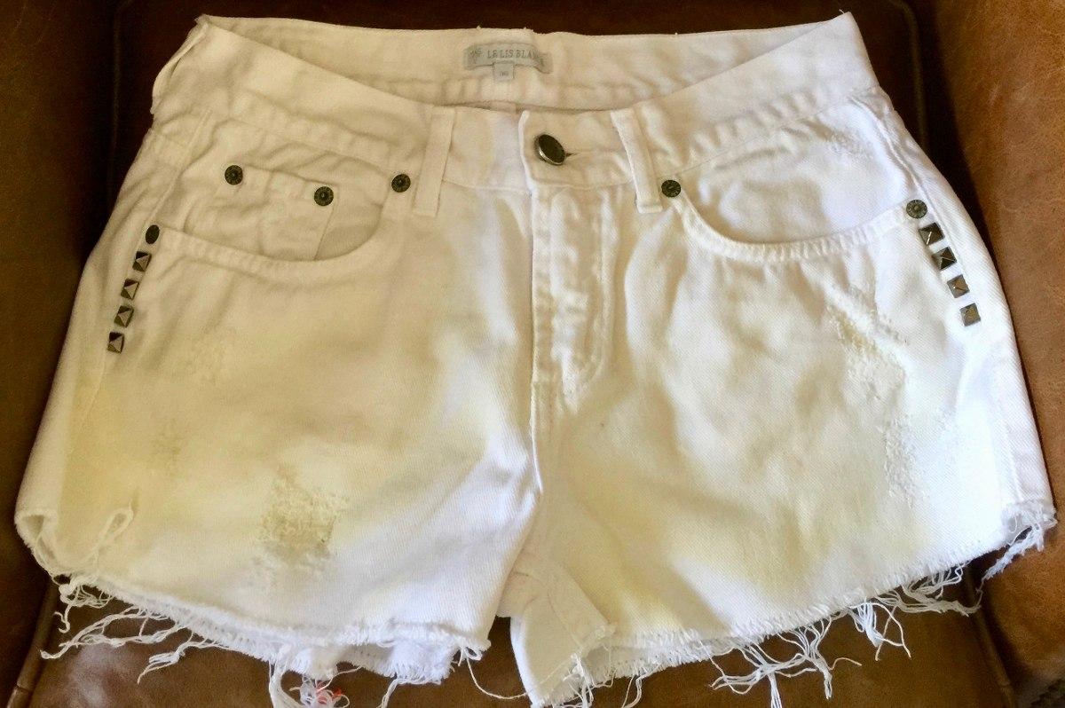 eed1c2175 short jeans destroyed spikes branco - le lis blanc. Carregando zoom.