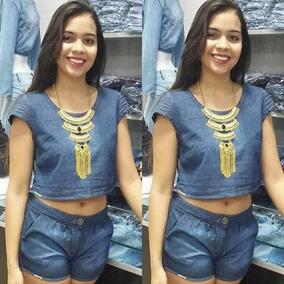 b974ffa89b Modelos De Blusas De Cetim - Shorts em Goiás no Mercado Livre Brasil