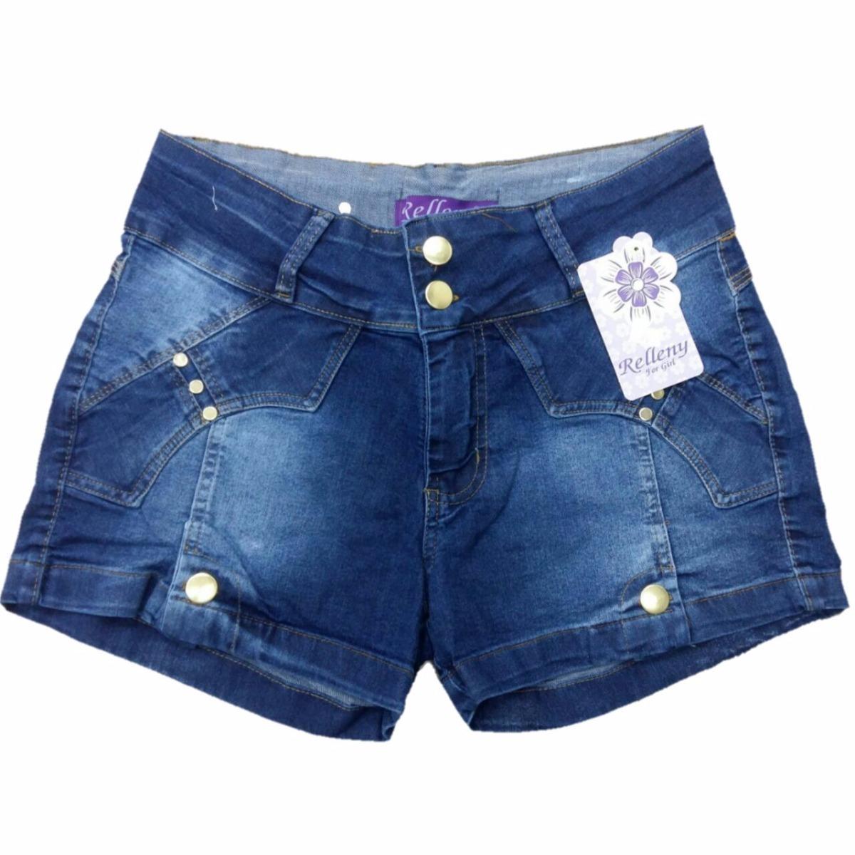 2cb48360f Carregando zoom... jeans feminino short 2 kit c/3 short bermuda jeans plus  size feminino até 56 lycra