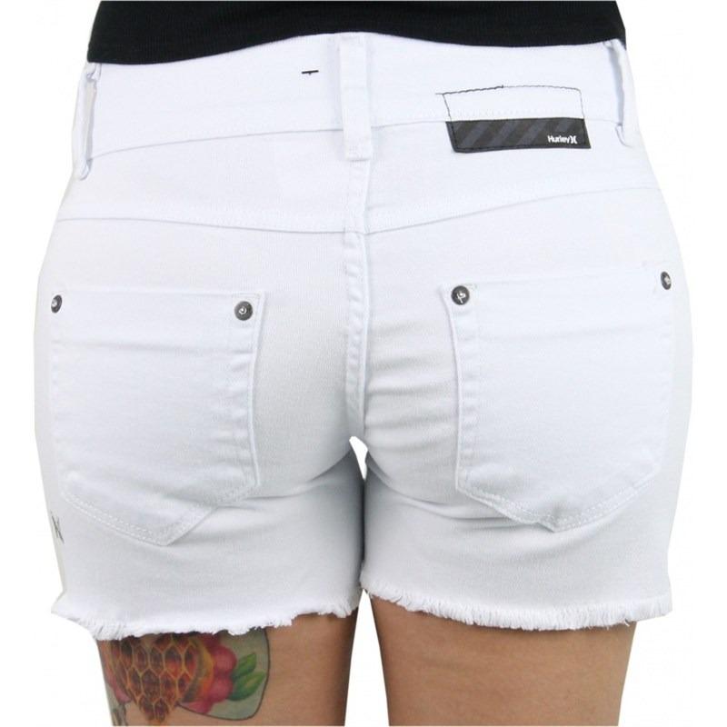 Short Hurley Jeans Reveillon Feminino Branco - R  89 c5d4465eacd