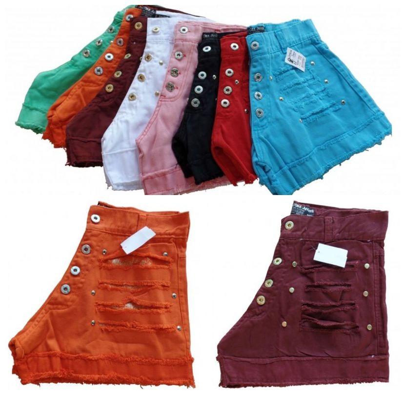 short jeans feminino cintura alta barato para revenda kit 2. Carregando zoom . 27006d11d54