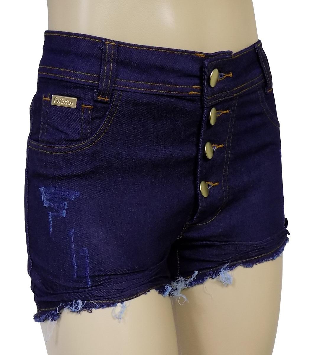 284f04136e short jeans feminino cintura alta verão juju panicat lycra. Carregando zoom.