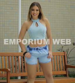 8547375b6 Short Jeans Feminino Curto Tendência Moda Instagram Verão