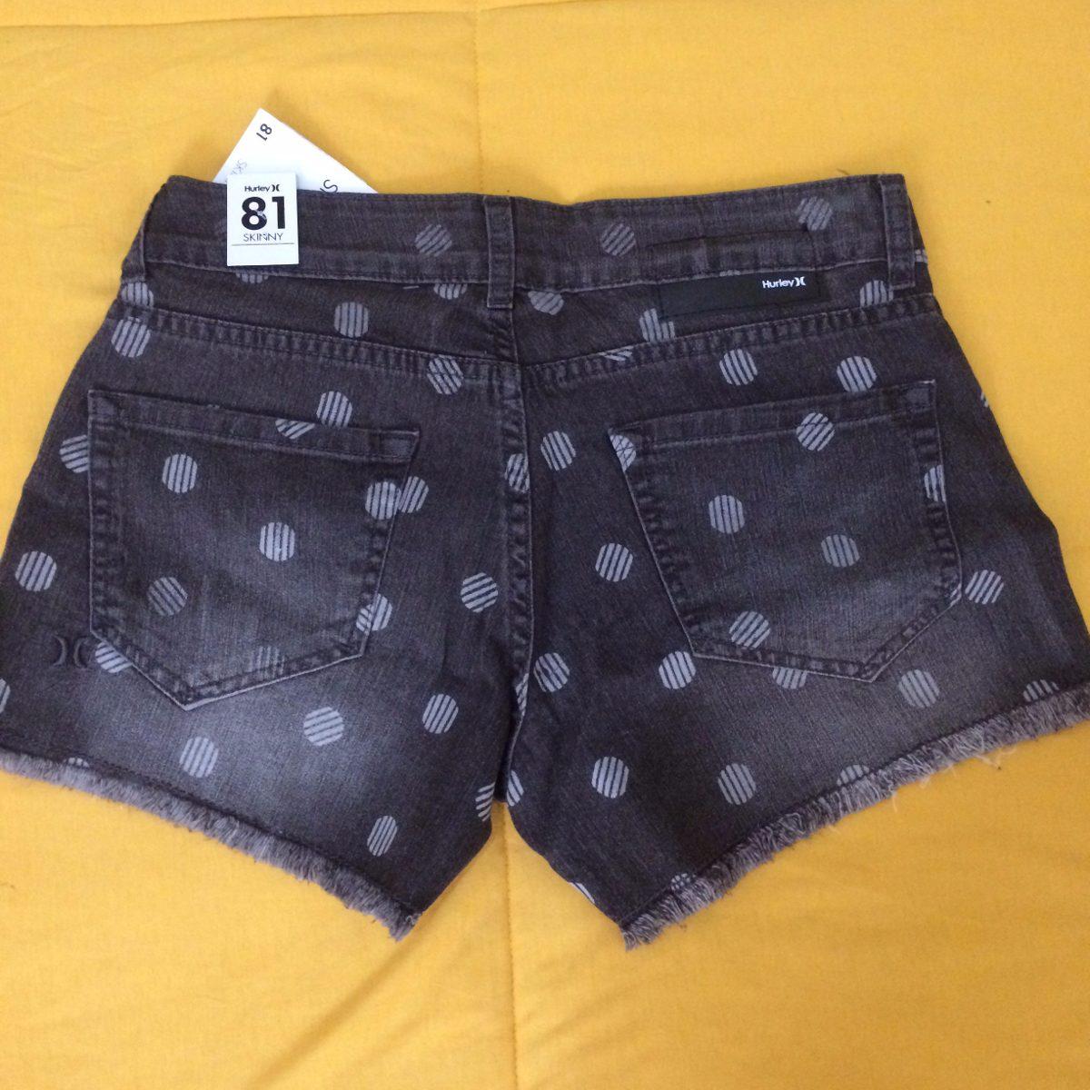 short jeans hurley cut off feminino cinza - original c  nf!! Carregando  zoom. 6be4e0cf659