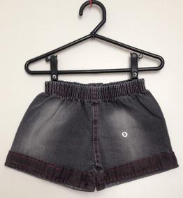 f24bc8da97 Short Jeans Infantil Mafessoni Tamanho 3 + Brinde