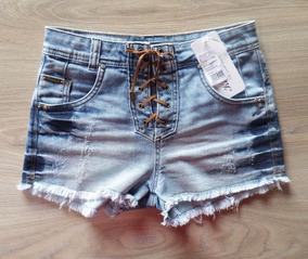 7a50936dd Short Jeans Com Cordao - Shorts Jeans para Feminino no Mercado Livre ...