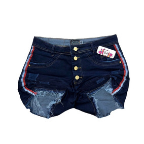b2ede4350d73 Shorts Branco Com Listra Lateral - Short Jean para Feminino com o Melhores  Preços no Mercado Livre Brasil