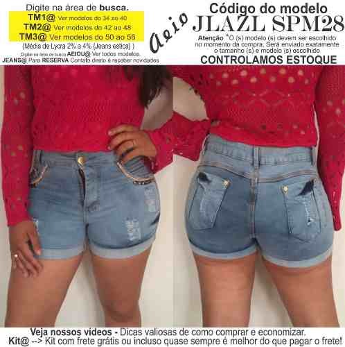 7be40919c2 short jeans roupas femininas lycra rasgo pedras unli  shpm28. Carregando  zoom... short jeans roupas
