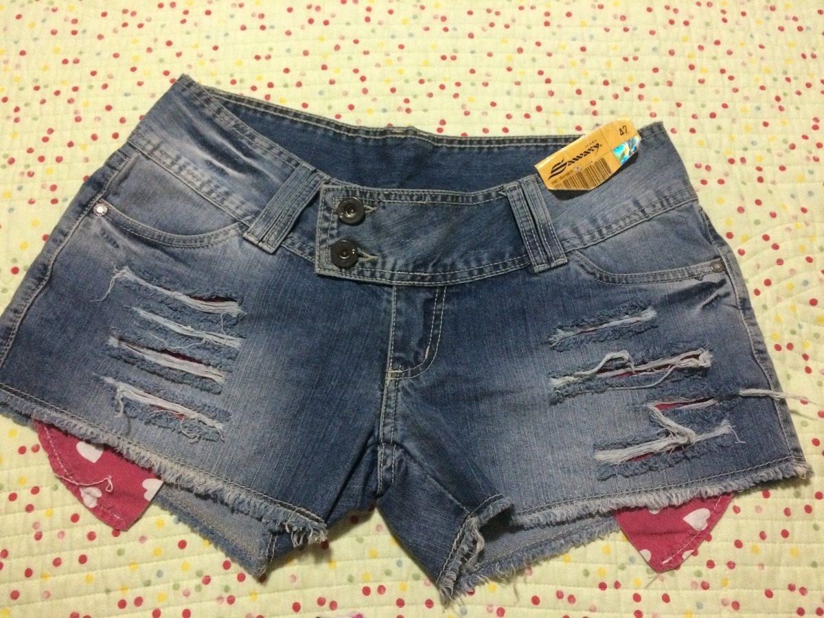 4ea3e526e205f9 Short Jeans Sawary - Cintura Baixa - Tam. 42
