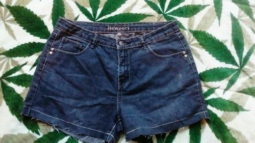 short jeans tiro alto talla 42