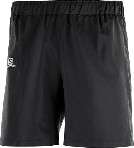 short masculina salomon - agile 7'' negro - running
