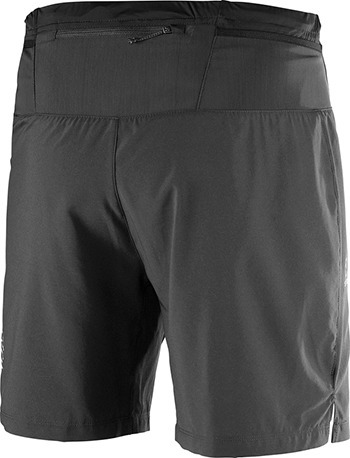 short masculino salomon - pulse 7 short bk m negro - trail r