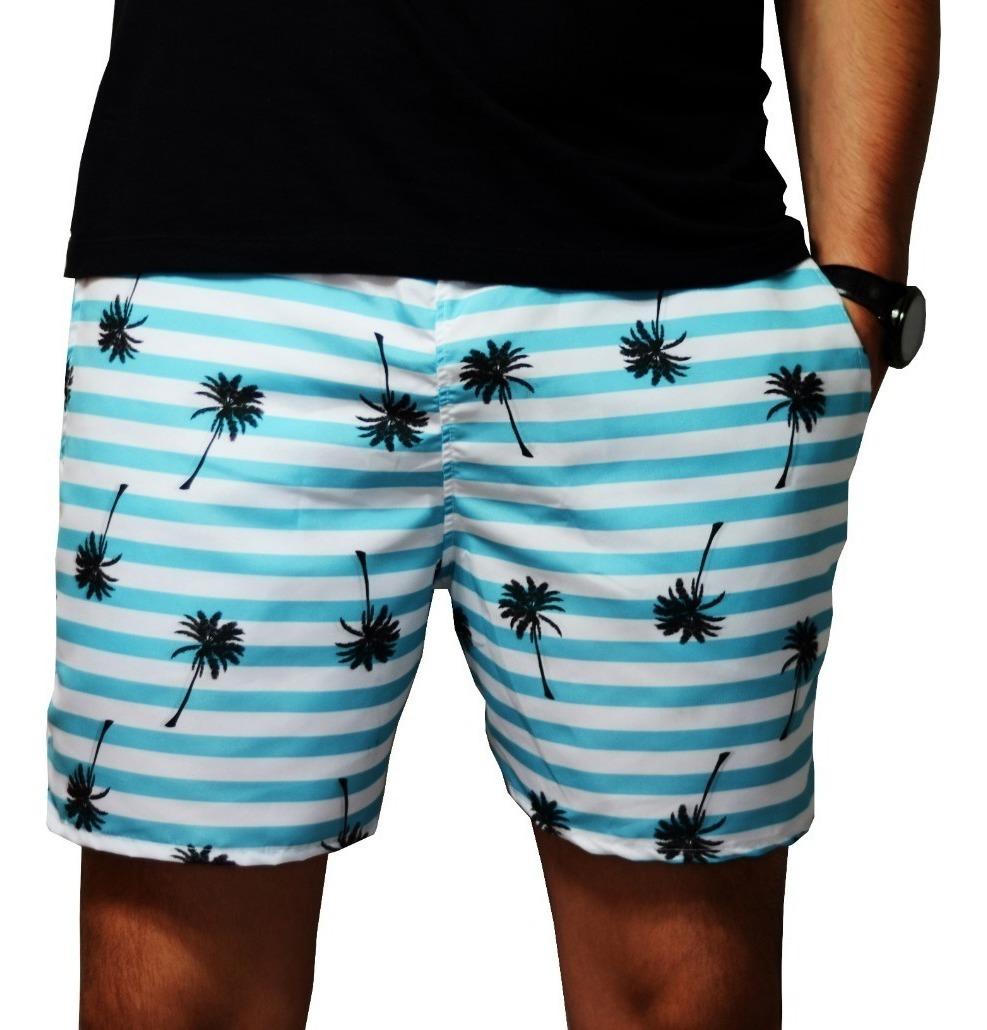 16b299ea2 Short Masculino Tactel Praia Bermuda Floral Tropical Banho - R$ 28,00 em  Mercado Livre