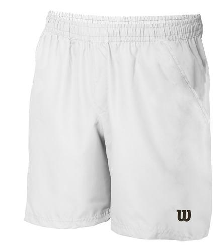 short masculino wilson - short core m blanco - tenis