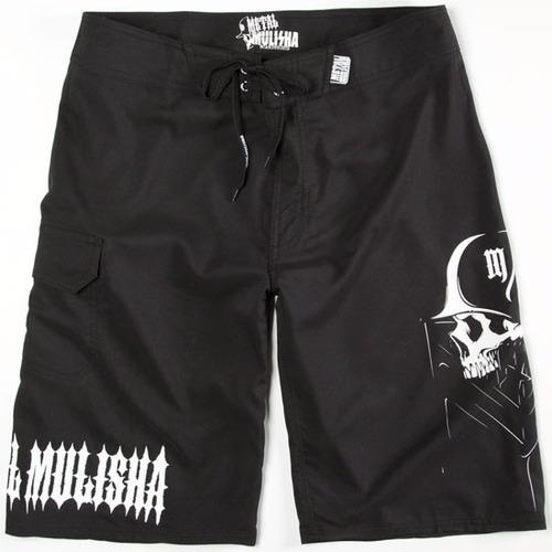 short metal mulisha 100% original modelo rein talla 32 negro