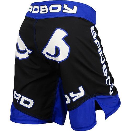 short mma bad boy legacy ii negro/azul-talle m