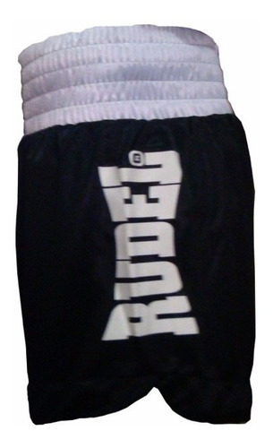 short muay thai rudel lumpi preto branco profissional treino