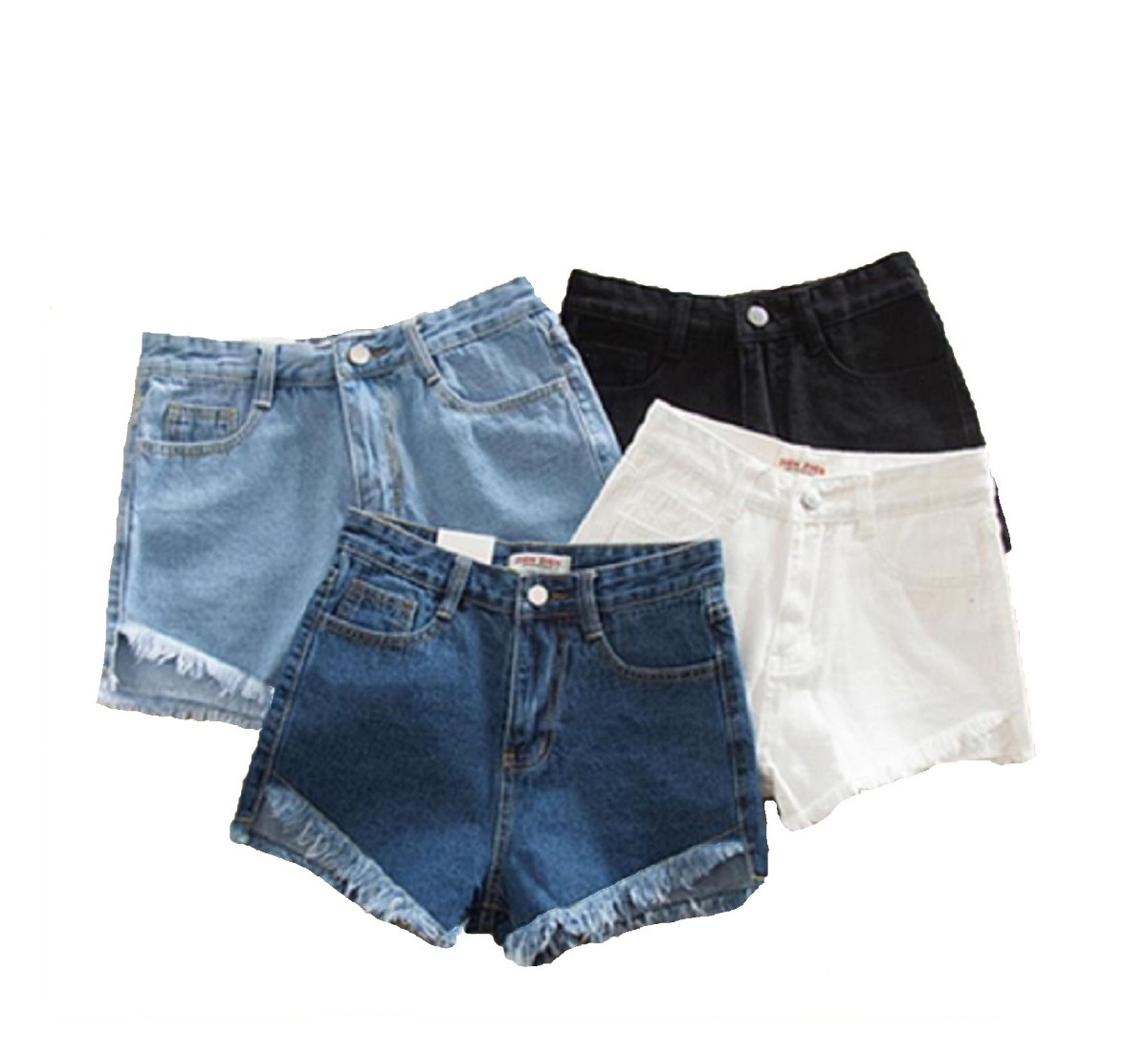 28302053c3 short mujer de jean flecos denim pantalon corto. Cargando zoom.
