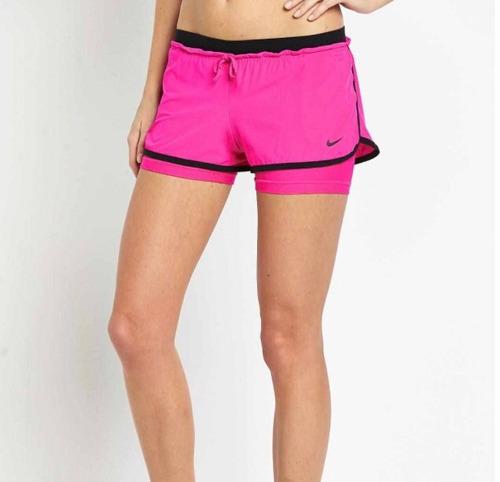 lila Agnes Gray Universidad  Short Nike Mujer Con Calza Abajo Crossfit Running Fitness - $ 699 ...