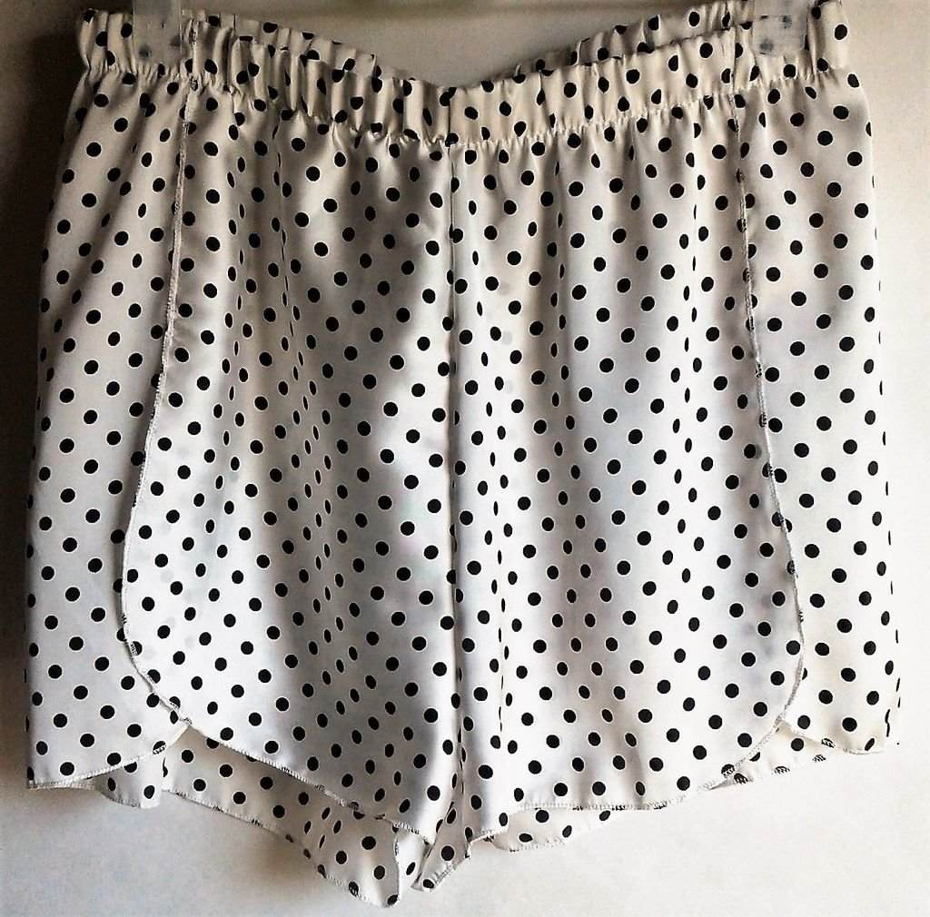mejor selección 9eda5 a57c2 Short Pantalón Corto Mujer Dama Estampado Lunares Blanco Verano