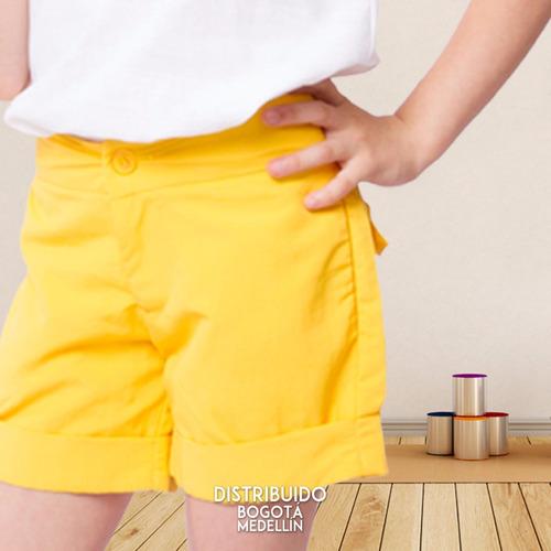 short para niñas short sol by vita plaud kids - talla 4