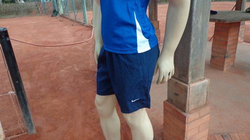 short para tenis con bolsillos color verde azul negro